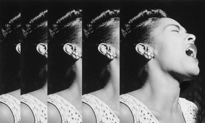 Retrato de Billie Holiday por William P. Gottlieb. Nueva York, 1947.